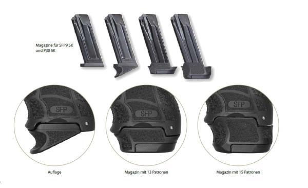HECKLER & KOCH f. P30SK/SFP9SK 15 Schuss