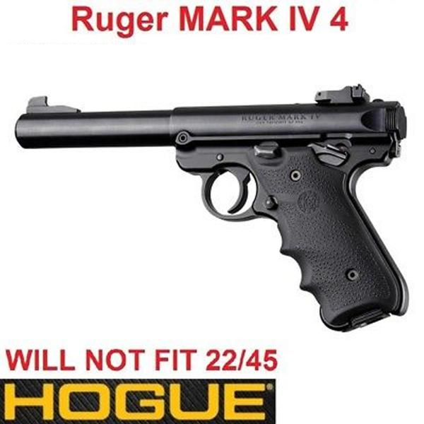 HOGUE Griff/Griffschalen f  Ruger MK IV Soft Rubber/Fingerrillen