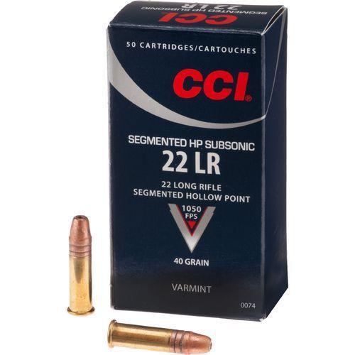 CCI .22 lr Subsonic HP Segmented